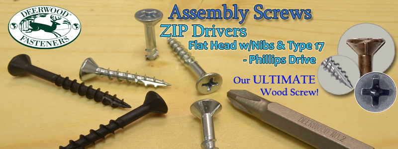 Assembly Screws Zip Phillips